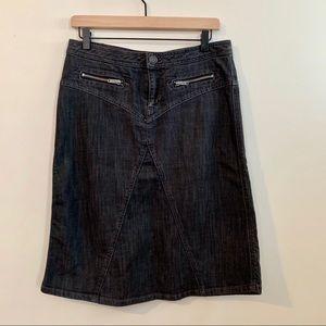 MARC by MARC JACOBS Black Denim Skirt w/ Zippers